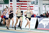 WINSTON-SALEM, NC - FEBRUARY 07: Hannah Brookover #7 and Elise Wright #2 of Wake Forest University compete in the Women's 1 Mile Run at JDL Fast Track on February 07, 2020 in Winston-Salem, North Carolina.