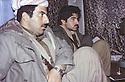 Iran 1980<br /> Rajan, In the politburo , left, Nihad and Dilchad Barzani  <br /> Iran 1980 <br /> Au Politburo a Rajan , a gauche Nihad et a cote Dilshad Barzani