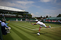 A general view of court 10<br /> <br /> Photographer Rob Newell/CameraSport<br /> <br /> Wimbledon Lawn Tennis Championships - Day 4 - Thursday 5th July 2018 -  All England Lawn Tennis and Croquet Club - Wimbledon - London - England<br /> <br /> World Copyright &not;&uml;&not;&copy; 2017 CameraSport. All rights reserved. 43 Linden Ave. Countesthorpe. Leicester. England. LE8 5PG - Tel: +44 (0) 116 277 4147 - admin@camerasport.com - www.camerasport.com
