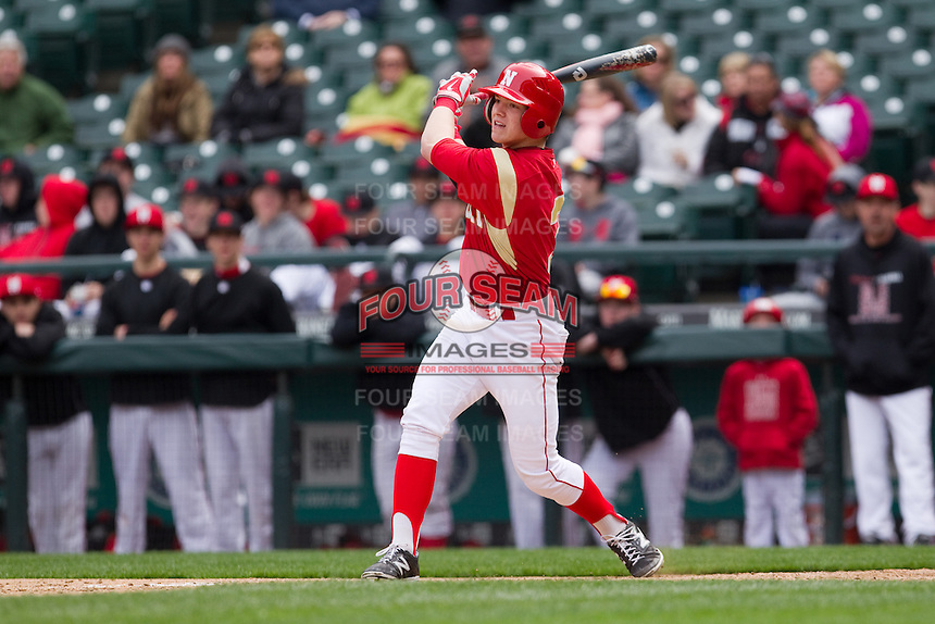 Ethan Paul #6 of the Newport Knights at bat during a game against the Mt. Si Wildcats at Safeco Field in Seattle, Washington on March 22, 2014.  Mt. Si defeated Newport 4-0.  (Ronnie Allen/Four Seam Images)