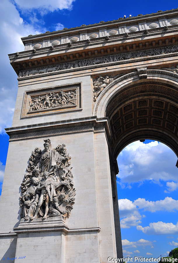 Arc de Triomphe, Paris, France, Abstract Picture<br />