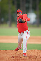 Philadelphia Phillies pitcher Starlyn Castillo (67) during an Instructional League game against the Detroit Tigers on September 19, 2019 at Tigertown in Lakeland, Florida.  (Mike Janes/Four Seam Images)