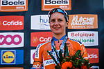 Megan Guarnier (USA) Boels Dolmans Cyclingteam finishes in 3rd place at the end of the 2018 La Fleche Wallonne Femmes (UCI WorldTour), Huy, Belgium, 18 April 2018, Photo by Thomas van Bracht / PelotonPhotos.com