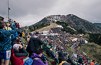 fans waiting for the riders to storm up the infamous Monte Zoncolan (1735m/11%/10km)<br /> <br /> stage 14 San Vito al Tagliamento &ndash; Monte Zoncolan (186 km)<br /> 101th Giro d'Italia 2018
