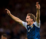 Scotland's Christoph Berra celebrates scoring the opening goal during the World Cup Qualifying Group F match at Hampden Park Stadium, Glasgow. Picture date 4th September 2017. Picture credit should read: Craig Watson/Sportimage