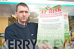 WARNING: Castleisland pharmacist Mike Kennelly who is warning that medical card and prescription payments are at risk.   Copyright Kerry's Eye 2008