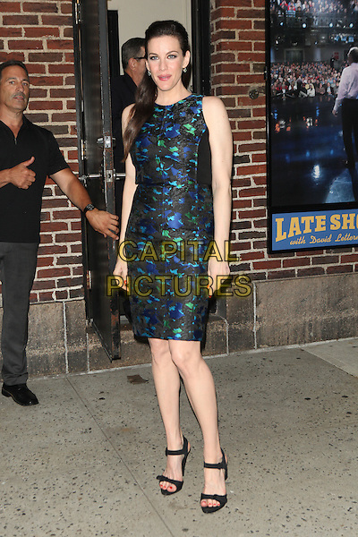 NEW YORK, NY - JULY 15: Liv Tyler at Late Show with David Letterman in New York City on July 15, 2014. Credit: Diego Corredor/MediaPunch<br /> CAP/MPI/COR99<br /> &copy;COR99/MPI/Capital Pictures