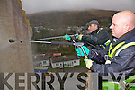 The Old RIC Barracks in Cahersiveen gets a wash, years of grime was washed away last weekend, pictured here the 'Power-Washer's' l-r; Denis Daly & Dermot McGillicuddy.