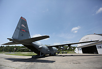 The back cargo door for the C-130 H model is open Friday, July 17, 2020, at the Arkansas Air and Military Museum at Drake Field in Fayetteville. The turboprop military transport aircraft is on display between two hangers full of military and civilian vehicles, aircraft and additional displays. The museum is open Tuesday through Saturday from 11:00 a.m. to 3:00 p.m.. Check out nwaonline.com/200718Daily/ and nwadg.com/photos for a photo gallery.<br /> (NWA Democrat-Gazette/David Gottschalk)