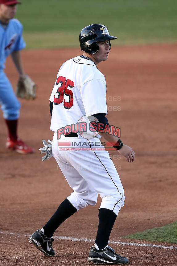 May 29th 2008:  Jeff Frazier of the Erie Seawolves, Class-AA affiliate of the Detroit Tigers, during a game at Jerry Uht Park in Erie, PA.  Photo by:  Mike Janes/Four Seam Images