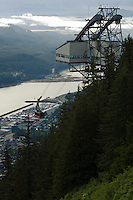 View of Juneau and Mt. Roberts Tram