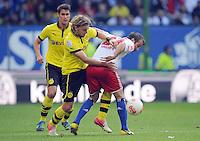 FUSSBALL   1. BUNDESLIGA   SAISON 2012/2013   5. Spieltag SV Werder Bremen - Hamburger SV                     22.09.2012         Rafael Van der Vaart (re, Hamburger SV) gegen Marcel Schmelzer (li, Borussia Dortmund)