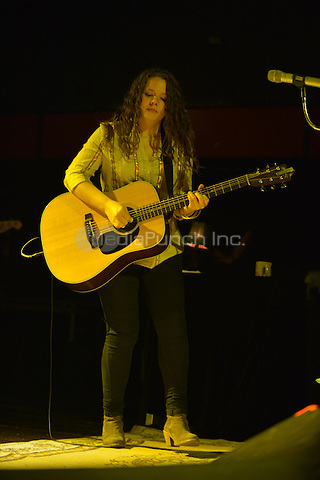 FORT LAUDERDALE, FL - JUNE 09: Joy Huerta of brother/sister Pop Singer duo Jesse & Joy performs as part of their Latinos Imparables Tour at Revolution Live on June 9, 2013 in Fort Lauderdale, Florida. © MPI10/MediaPunch Inc