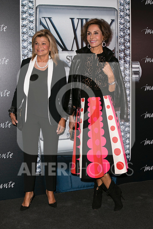 "Cari Lapique (Left) and Naty Abascal (Right)at the presentation of the first woman watch of Suarez Brand at ""La casa encendida"" in Madrid, Spain. October 15, 2014. (ALTERPHOTOS/Carlos Dafonte)"