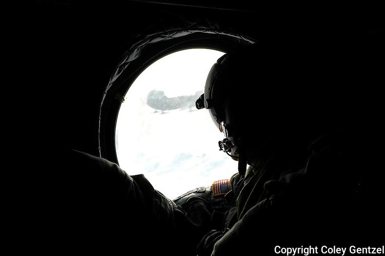 Chinook helicopter crew on Denali