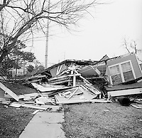 Destroyed homes in New Orleans - Lower Ninth Ward, photographed February 22, 2006