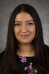 Dinet Reyes, Call Center Agent, Undergraduate Admissions, Enrollment Management and Marketing, DePaul University, is pictured Feb. 26, 2019. (DePaul University/Jeff Carrion)