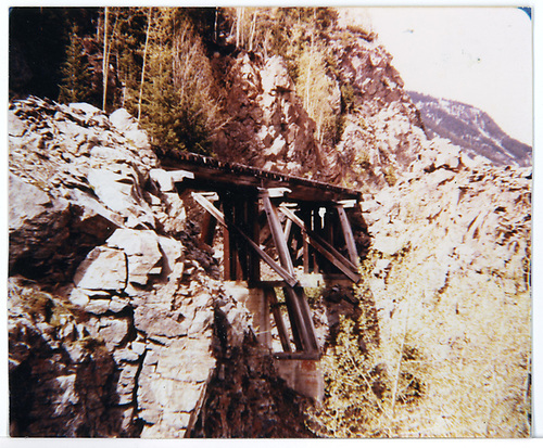 RGS Bridge 46-B after abandonment.<br /> RGS  Ophir Loop, CO  Taken by Graves, William