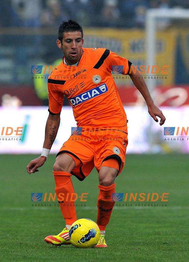 """Mauricio ISLA (Udinese).Parma 20/11/2011 Stadio """"Ennio Tardini"""".Serie A 2011/2012.Football Calcio Parma Vs Udinese.Foto Insidefoto Alessandro Sabattini."""
