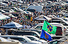 Oct 11, 2014; Tailgaters before the North Carolina game. (Photo by Matt Cashore)
