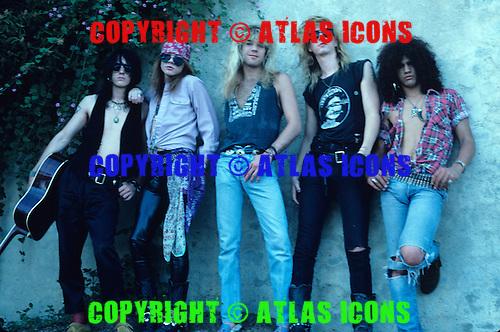 Guns n Roses Studio Session In Hollywood CA, 1986,.Photo Credit: Beth Nussbaum/Atlasicons.com