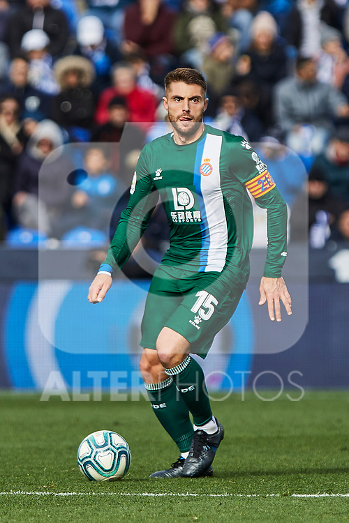 David Lopez of RCD Espanyol during La Liga match between CD Leganes and RCD Espanyol at Butarque Stadium in Leganes, Spain. December 22, 2019. (ALTERPHOTOS/A. Perez Meca)