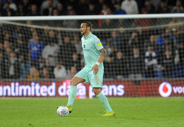 Queens Park Rangers' Geoff Cameron during the game<br /> <br /> Photographer Ian Cook/CameraSport<br /> <br /> The EFL Sky Bet Championship - Cardiff City v Queens Park Rangers - Wednesday 2nd October 2019  - Cardiff City Stadium - Cardiff<br /> <br /> World Copyright © 2019 CameraSport. All rights reserved. 43 Linden Ave. Countesthorpe. Leicester. England. LE8 5PG - Tel: +44 (0) 116 277 4147 - admin@camerasport.com - www.camerasport.com