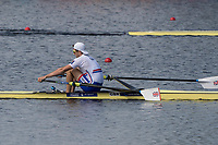 Sarasota. Florida GBR M1X. Tom BARRAS,  approaches the finish line, to win, Semi Final A/B. 2017 World Rowing Championships, Nathan Benderson Park<br /> <br /> Friday  29.09.17   <br /> <br /> [Mandatory Credit. Peter SPURRIER/Intersport Images].<br /> <br /> <br /> NIKON CORPORATION -  NIKON D500  lens  VR 500mm f/4G IF-ED mm. 200 ISO 1/800/sec. f 8