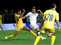 Maxi Lopez durante l'incontro di calcio di Serie A   Frosinone - Torino  allo  Stadio Matusa di   di Frosinone ,23 Agosto 2015