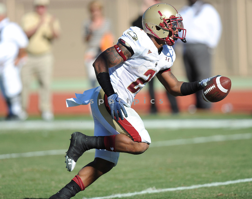 MONTEL HARRIS, of the  Boston College Eagles, in action during Boston College's game against the Duke Blue Devils  on November 13, 2010 at Wallace Wade Stadium in Durham, North Carolina...Boston College 21   Duke University 16..