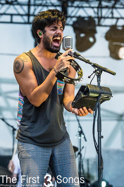 Sameer Gadhia of Young the Giant performs at the 2014 Bunbury Music Festival in Cincinnati, Ohio