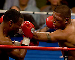 FEBRUARY 24 2006 The left eye of Fernando Vargas swells up The fight was called in the 10th round because of swelling in the left eye of Vargas as Mosley was given the 10th round TKO victory. losing to Shane Mosley at the junior middleweight fight at the Mandalay Bay Events Center on February 25, 2006 in Las Vegas, Nevada.