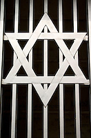 Star of David at Radegast Station where 200,000 Jews were transported to Auschwitz and other death camps.  Lodz Central Poland
