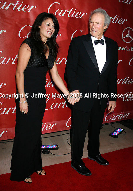 PALM SPRINGS, CA. - January 06: Actor/Director Clint Eastwood and wife Dina Eastwood arrive at The 20th Anniversary of the Palm Springs International Film Festival Awards Gala at the Palm Springs Convention Center in on December 6, 2009 in Palm Springs, California.