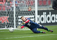 21 April 2012: Chicago Fire goalkeeper Paolo Tornaghi #70 in action during the warm-up in a game between the Chicago Fire and Toronto FC at BMO Field in Toronto..The Chicago Fire won 3-2....