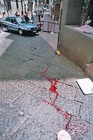 ALESSANDRA CLEMENTE , FIGLIA DI SILVIA RUOTOLO VITTIMA INNOCENTE  DELLA CAMORRA NAPOLETANA E'  NOMINATA ASSESSORE ALLE POLITICHE GIOVANILI DEL COMUNE DI NAPOLI .NELLA FOTO SALITA ARENELLA IL LUOGO  DELL'AGGUATO DEL GIUGNO 1997. FOTO CIRO DE LUCA