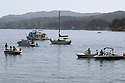 Boats in the harbor at Whaling Days festival, Silverdale, WA Kitsap County community event. Stock photography by Olympic Photo Group