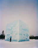 Finland, Rovaniemi, exhibition of ice sculpture by Yoko Ono and Arata Isozaki.