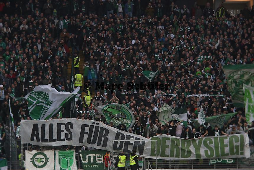 Werder Fans fordern den Derbysieg - Eintracht Frankfurt vs. SV Werder Bremen