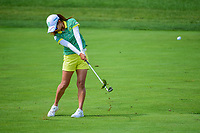 Ai Miyazato (JPN) hits her approach shot on 1 during Saturday's third round of the 72nd U.S. Women's Open Championship, at Trump National Golf Club, Bedminster, New Jersey. 7/15/2017.<br /> Picture: Golffile | Ken Murray<br /> <br /> <br /> All photo usage must carry mandatory copyright credit (&copy; Golffile | Ken Murray)
