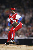 Yadiel Pedroso of the Cuban national team during championship game against Japan during the World Baseball Championships at Petco Park in San Diego,California on March 20, 2006. Photo by Larry Goren/Four Seam Images