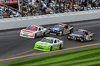 Timmy Hill (#15), Johanna Long (#70), Blake Koch (#41) and David Ragan (#27)