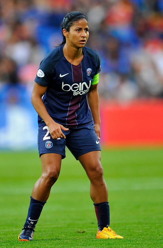 Paris Saint-Germain's Shirley Cruz Trana in action <br /> <br /> Photographer Ashley Crowden/CameraSport<br /> <br /> UEFA Women's Champions League Final - Lyon Women v Paris Saint-Germain Women - Thursday 1st June 2017 - Cardiff City Stadium<br />  <br /> World Copyright &copy; 2017 CameraSport. All rights reserved. 43 Linden Ave. Countesthorpe. Leicester. England. LE8 5PG - Tel: +44 (0) 116 277 4147 - admin@camerasport.com - www.camerasport.com