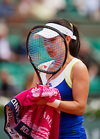 01-06-13, Tennis, France, Paris, Roland Garros, Jie Zheng