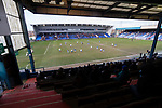 Fans watching the game from The George Hill Main Stand.Oldham v Portsmouth League 1