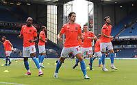 Blackburn Rovers' Lewis Travis leads the squad during the pre-match warm-up <br /> <br /> Photographer Kevin Barnes/CameraSport<br /> <br /> The EFL Sky Bet Championship - Blackburn Rovers v Charlton Athletic - Saturday 3rd August 2019 - Ewood Park - Blackburn<br /> <br /> World Copyright © 2019 CameraSport. All rights reserved. 43 Linden Ave. Countesthorpe. Leicester. England. LE8 5PG - Tel: +44 (0) 116 277 4147 - admin@camerasport.com - www.camerasport.com