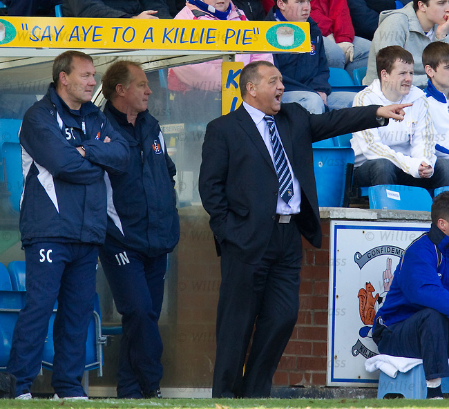 Kilmarnock manager Jimmy Calderwood makes his point