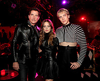 """LOS ANGELES - OCTOBER 26: (L-R) Dylan McDermott, Billie Lourd and Cody Fern attend the red carpet event to celebrate 100 episodes of FX's """"American Horror Story"""" at Hollywood Forever Cemetery on October 26, 2019 in Los Angeles, California. (Photo by John Salangsang/FX/PictureGroup)"""