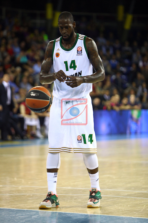 Euroleague Basketball-Regular Season Round 5.<br /> FC Barcelona vs Panathinaikos Athens: 78-69.<br /> James Gist.