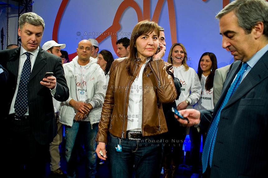 Renata Polverini a una manifestazione del Popolo delle Libertà